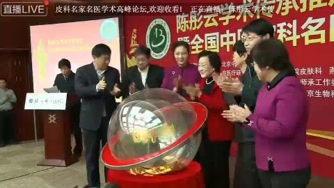 陈彤云学术传承推广暨全国中医皮科名家名医学术高峰论坛开幕式