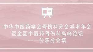 中华中医药学会骨伤科分会学术年会暨全国中医药骨伤科高峰论坛 传承分会场