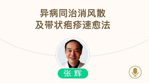 张辉--皮肤病异病同治谈消风散以及带状疱疹速愈法(北京中医医院皮肤科聚友会20160202)