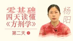 杨阳--零基础四天读懂《方剂学》:第二天
