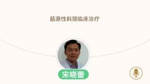 宋晓蕾—筋源性斜颈临床治疗