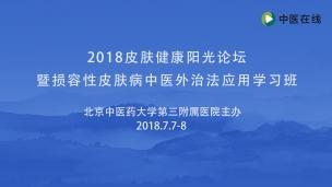 2018皮肤健康阳光论坛暨损容性皮肤病中医外治法应用学习班