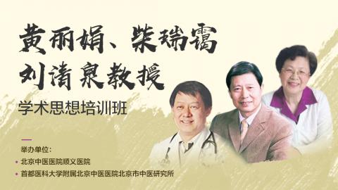 黄丽娟、柴瑞霭、刘清泉教授学术思想培训班