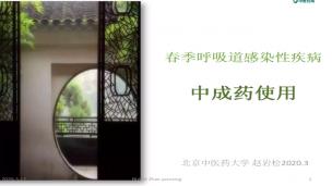 赵岩松—春季呼吸道感染性疾病中成药使用