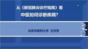 王天芳-从《新冠肺炎诊疗指南》看中医如何通过舌脉来诊断疾病